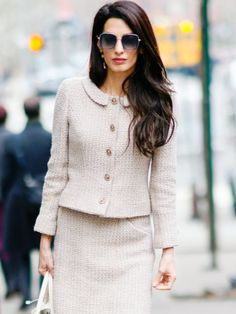 Amal Clooney spotted in Chanel in New York 28.03.2018 | Amal Clooney Style