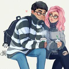 Pin de mint em couple art, itslopez e anime art. Cute Couple Drawings, Cute Couple Art, Cute Drawings, Cute Couples, Sweet Couples, Cartoon Drawings, Cartoon Art, Character Drawing, Character Design