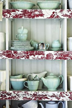 Brabourne Farm: Kitchens; love the material on the shelves