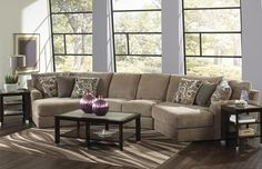 Jackson Furniture Malibu sectional Arm Less Love Seat with LT and RT Piano Wedges