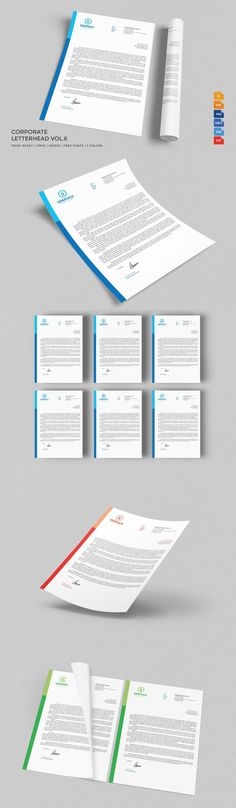 Corporate Letterhead Stationery, Templates and Letterhead - corporate word templates