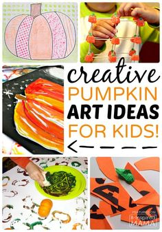 Creative Pumpkin Themed Art for Kids - Perfect for Fall or Halloween! at B-Inspired Mama
