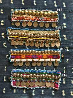 Your place to buy and sell all things handmade Handmade Jewelry Designs, Handmade Accessories, Fabric Jewelry, Beaded Jewelry, Phulkari Embroidery, Terracota Jewellery, Bracelet Crafts, Bracelets, Textiles