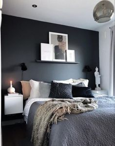 Bedroom Wall Decor Ideas Small Rooms Basements is unconditionally important for your home. Whether you choose the Bedroom Ideas Master For Couples or Bedroom Wall Decor Ideas Small Rooms Space Saving, Dream Bedroom, Home Decor Bedroom, Bedroom Black, Charcoal Bedroom, Diy Bedroom, Bedroom Furniture, Brown Furniture, 1930s Bedroom, Budget Bedroom