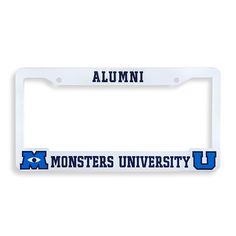 frighten rival fans at your next tailgate party with the official monsters university alumni license plate frame fit for the grill of any creepy coupe or