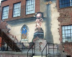 Great art is everywhere in Asheville, NC. Check out this detailed mural in the River Arts District.