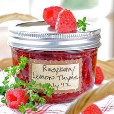 JULES FOOD...: Raspberry Lemon Thyme Jam