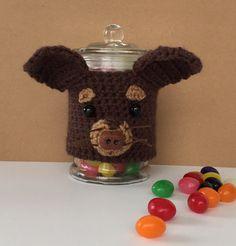 Chihuahua Candy~Treat Jar/Chihuahua Cozy/Chihuahua Mom/Gift for Dog Lover/HookedbyAngel
