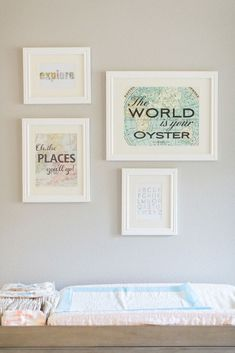This is a nursery fit for a tiny world traveler.