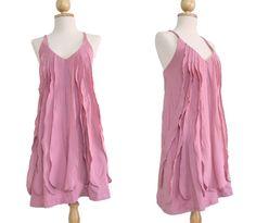 Women Petit Pastel Light Pink Summer Cotton Dress by idea2wear