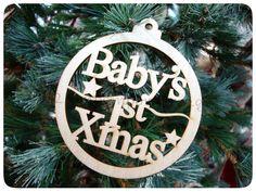 ΞΥΛΙΝΟ ΔΙΑΚΟΣΜΗΤΙΚΟ BABY'S 1st XMAS - 10 ΕΚΑΤ.- ΚΩΔ:890800-NT Xmas, Christmas Ornaments, Holiday Decor, Baby, Home Decor, Natal, Xmas Ornaments, Homemade Home Decor, Christmas