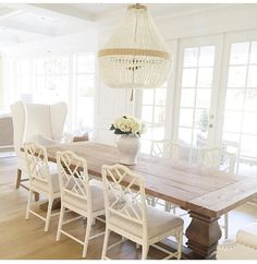 Chippendale chairs with that rustic farm table