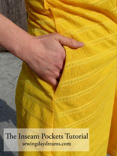 Sewing Daydreams - The Inseam Pockets Tutorial