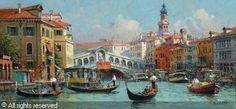 NITSCHKE Detlev - Kanal in Venedig mit Blick auf die Rialtobrücke