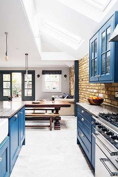 industrial kitchen extension heritage blue units