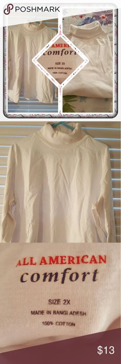 ❤ NWOT Woman's White Turtleneck Size 2X ❤ Brand New Woman's White Turtleneck From Woman Within Size 2X. The Brand Is All American Comfort. This Is A Great Layering Piece Or Can Be Worn Alone. Excellent Condition 🚫 PAYPAL 🚫 TRADES 🚫 OFFERS PRICED LOW TO SELL ❤ Woman Within  Sweaters Cowl & Turtlenecks