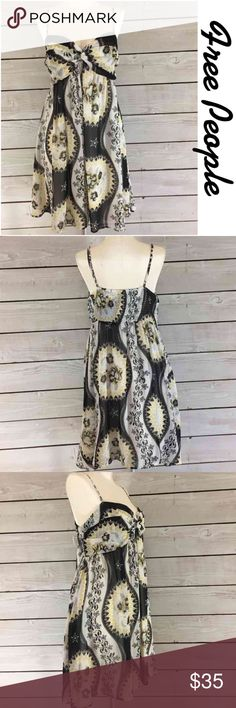 "Free People Print Dress.  Perfect for Summer. Free People Print Dress.  Perfect for Summer.  Loose fit from under bust.  Comfy. Flat lay measurements.  Between under arms 16.5"". Waist area 34"" length 33.5"". Summer Perfect. Free People Dresses"