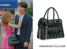 Yoon So Ah (Shin Se Kyung 신세경) carries a dark green braided leather bag in Episode 16 of Bride of the Water God. It is the Miu Miu Top Handle Matelassé bag in Emerald Green. Sold Out. Get it in black HERE for...