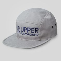 upper-playground - Landscape 5 Panel Strap Back Cap in Grey #upperplayground @upperplayground #walrus #up #sf #landscape #fivepanel