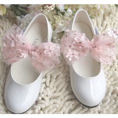 Baby Toddler Little Flower Pageant Event Dress Shoes White Stores SKU-133058