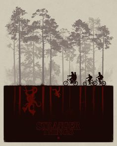 Stranger Things.   Poster by Matt Ferguson.