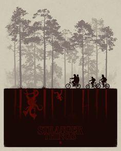Stranger Things.   Poster by Matt Ferguson.
