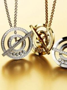 Chopard Happy Diamond Necklaces. Available at London Jewelers!