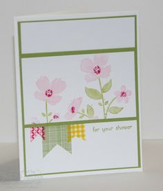 Jill's Card Creations: Stampin Up Wildflower Meadow card Beautiful clean & simple card