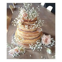 #tbt this Mille feuille & creme patisserie stacked wedding cake I made for @joanna_mcgarry's wedding in Bordeaux - the closest I've ever got to a pancake wedding cake - the mood board images were all stacks of crepes - also one of the most challenging I've ever attempted, thin layers of puff pastry & pastry cream