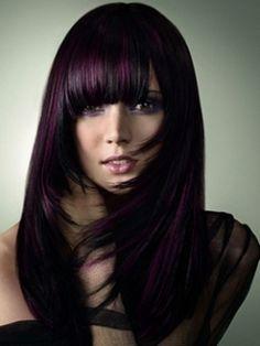 dark burgundy plum hair color <3