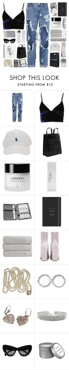 """""""a beautiful mad disaster"""" by celhestial ❤ liked on Polyvore featuring OneTeaspoon, T By Alexander Wang, Ugo Cacciatori, Chanel, CO, Maison Margiela, NARS Cosmetics, Chome, Christy and Chloé"""