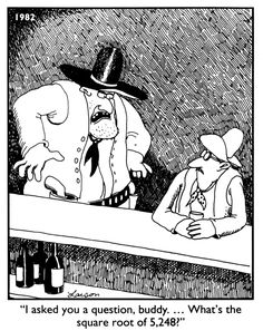 The Far Side Comics | Next year...day 1 of Algebra...
