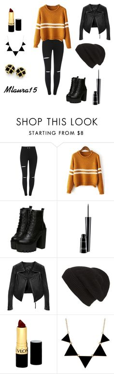 """""""October :-P"""" by laurenciusz ❤ liked on Polyvore featuring MAC Cosmetics, Linea Pelle, Phase 3 and Revlon"""