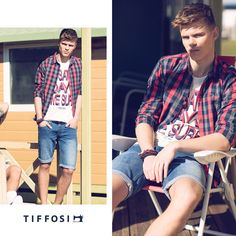 Editorial, Urban, Jeans, Button Down Shirt, Men Casual, Plaid, Blazer, Waiting, Mens Tops