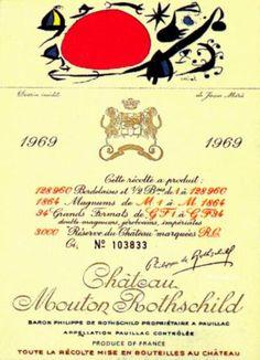 Chateau Mouton Rothschild 1969 etiqueta Miró