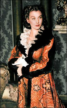 """Vivien Leigh& Dressing Gown in """"Gone with the Wind"""" was originally created three years earlier for a Katherine Hepburn black and white film, """"A Woman Rebels. Hollywood Stars, Classic Hollywood, Old Hollywood, Rhett Butler, Scarlett O'hara, Vivien Leigh Movies, Wind Movie, Hollywood Costume, Tomorrow Is Another Day"""