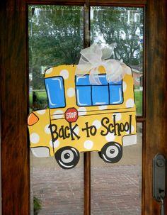 Back to School Bus Door Hanger