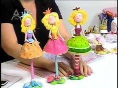Mimi Luna creando con Geraldine Gabasa hermosas piezas en Masa Flexible - YouTube