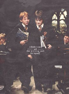I forgot all about this line! It was one of the best in the first movie, too! And to think, where would Harry be if he hadn't picked Ron and had picked Malfoy? The whole series would be completely different...