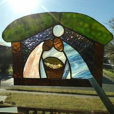 RESERVED Stained Glass Nativity van FeralChristians op Etsy