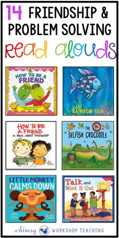 Teaching social skills and character development is essential in kindergarten, grade one and grade two! Lessons on friendship and problem solving are supported with this book list to support social emotional learning ( SEL ) Emotional Books, Social Emotional Activities, Social Emotional Development, Character Development, Toddler Development, Emotional Support Classroom, Emotional Kids, Emotions Activities, Leadership Activities