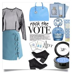 """rock the vote"" by weirdbutsuitablepersona ❤ liked on Polyvore featuring Chicwish, Yves Saint Laurent, River Island, Michael Kors, Beauty Is Life, Vera Bradley, Ippolita, BillyTheTree and rockthevote"