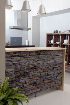 Exposed brick & stone walls have been an architectural feature for generations. A showcase of ways to feature exposed brick & stone inside your home. Stone Interior, Interior Walls, Best Interior, Interior Design Kitchen, Küchen Design, House Design, Design Ideas, Wall Design, Brick And Stone