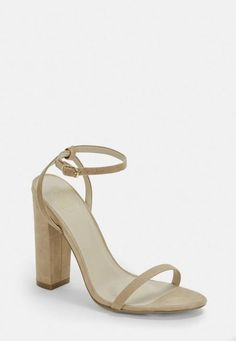 large fit beige faux soft block heeled sandals using a buckle fastening. Approx Heel Height: 11. 5cm/4. a few #promheelsred #promheelschampagne #promheelssparkly #promheelssparkly #promheelsblack #promheelsblack