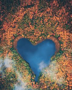 ITAP of a heart shaped lake in Ontario Canada Heart In Nature, Heart Art, World's Most Beautiful, Beautiful World, Ontario Travel, Heart Pictures, Heart Pics, Belleza Natural, Landscape Photographers