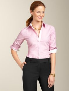 Talbots - Wrinkle-Resistant End-On-End Shirt | Tops | Woman