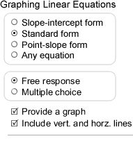 Create Custom Pre-Algebra, Algebra 1, Geometry, Algebra 2, and Calculus worksheets