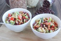 Bean Salad with Cucumbers, Tomato, and Feta Cheese   |   Created by Chef Susan Goss #BeanInspired