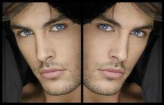 Kostas Martakis - blue eyes, male, handsome, collage, man, greece, by cehenot, kostas martakis, music, singer