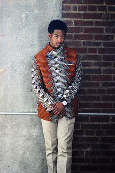 Africain vêtements Ankara hommes Blazer africain imprimé par Quistt